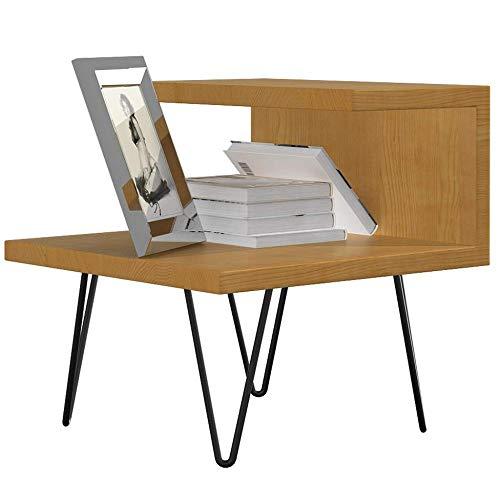 ASDAD nachtkastje eenvoudige moderne nachtkastje smeedijzer hout bed kant kleine kast industriële hout metalen frame