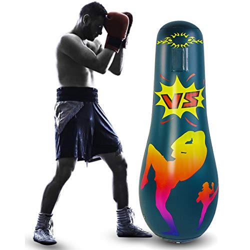 Tianhaik Saco de boxeo inflable Niños Adulto Tranning Fitness Sandbags de arena de pie libre boxeo estrés aliviar la bolsa