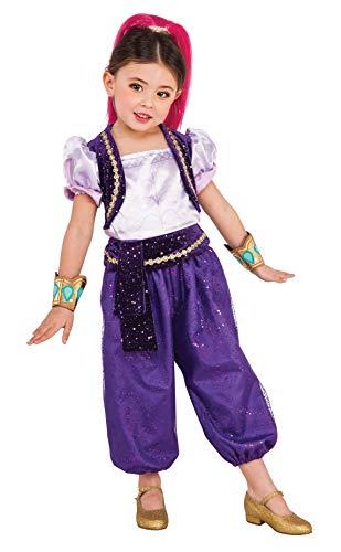 Shimmer & Shine - Disfraz Deluxe violeta para niña, infantil S (3-4 años) Rubie's 620792-S