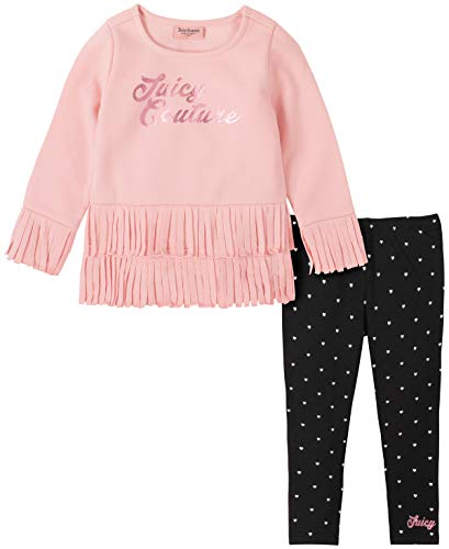 Juicy Couture Girls' 2 Pieces Leggings Set, Pink/Print, 6
