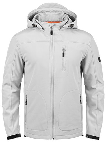 INDICODE Deegan - veste softshell - Homme, taille:S, couleur:Light Grey Mix (913)