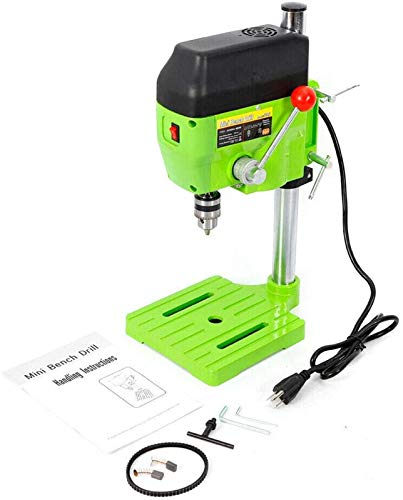 BG-5166A Electric Mini Bench Drill Press Stand Portable Table Rotary Workstation Drill Workbench Metal Drilling Repair Equipment Tool 0-11000rpm 2 Speed Adjustable 110V 480W