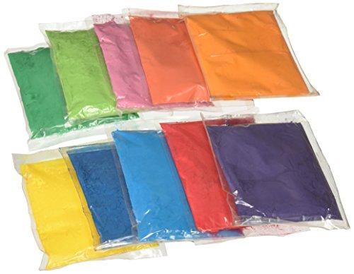 Bharat Online, Rangoli-Farben für Feste, heilige Farben, 50Gramm je Paket, 10Pakete