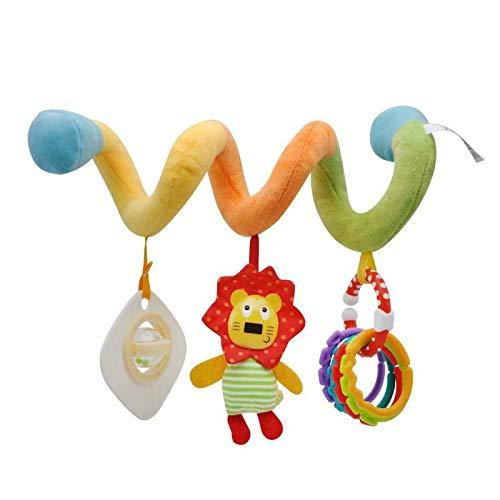 Jouet de Poussette bébé Hochet Jouets Animales en Peluche Spirale d'activités Hanging Jouets...