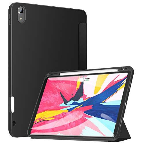 ZtotopCase Hülle für iPad Pro 11 Zoll 2018, Ultradünne Smart Cover Schutzhülle mit Stifthalter, Automatischem Schlaf/Aufwach,Unterstützt Das Aufladen des iPad Pencil, für iPad Pro 11 2018 - Schwarz