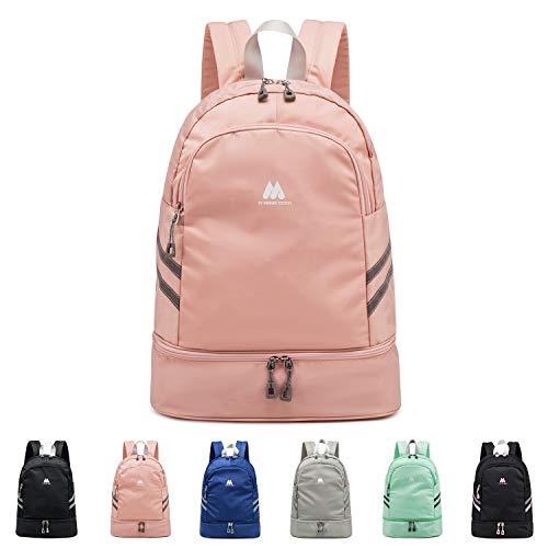 FEDUAN Sport-Rucksack Sporttasche mit Schuhfach und Nassfach Damen Herren Teenager Backpack für Fitness Gym Outdoor Camping Schule Schwimmbad Fahrrad-Rucksack Mädchen Junge Kinder rosa pink