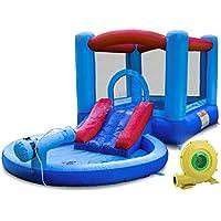 Kangaroo Kastle Inflatable Water Slide and Bounce House with Blower and Water Gun/Splash Pool