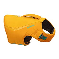 Updated dog lifejacket design for 2021 - new colours with improved lightweight shell fabric and soft inner foam layer High quality dog swimming vest for keeping safe in and around water. Full range of motion for swimming and other water activities Ea...