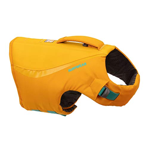RUFFWEAR, Float Coat Dog Life Jacket, Swimming Safety Vest with Handle, Wave Orange, Small