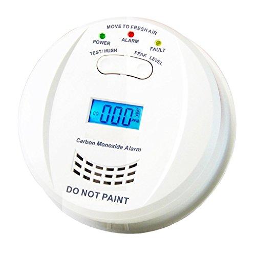 Heiman Kohlenmonoxidmelder CO Alarm Gasmelder mit Display CO Melder Kohlenmonoxid und Höchstwertspeicherung HM-723ESY