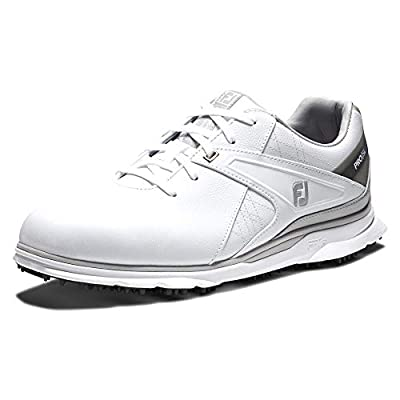 FootJoy Men's Pro/SL Golf Shoes, White/Grey, 12 M US
