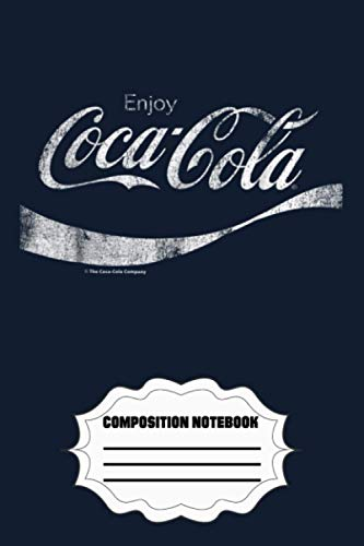 Coca-cola Vintage White Enjoy Logo Graphic KS Notebook: 120 Wide Lined Pages...
