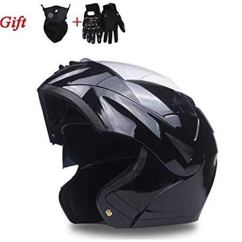 OLEEKA Cascos de motocicleta seguros Lente doble Flip Up Casco de motocicleta Casco integral de Motocross para elegir varios colores