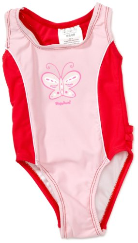 Playshoes Unisex - Baby Babybekleidung/ Badebekleidung UV-Schutz nach Standard 801 und Oeko-Tex Standard 100 Badeanzug Schmetterling mit Windeleinsatz 460063, Gr. 86/92, Rosa (900 original)