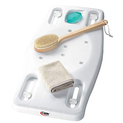 Carex Portable Shower Bench - Shower Bath Seat - Adjustable Width to...