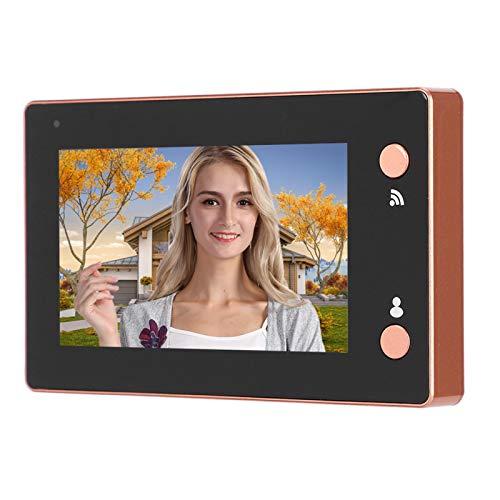 Visor de puerta digital, monitor LCD de 4.3 pulgadas, cámara de puerta con mirilla Wifi, visión nocturna, detección de movimiento, videoportero electrónico, timbre de seguridad para el hogar