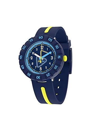 Flik Flak Jungen Analog Quarz Uhr mit Kunststoff Armband FCSP091