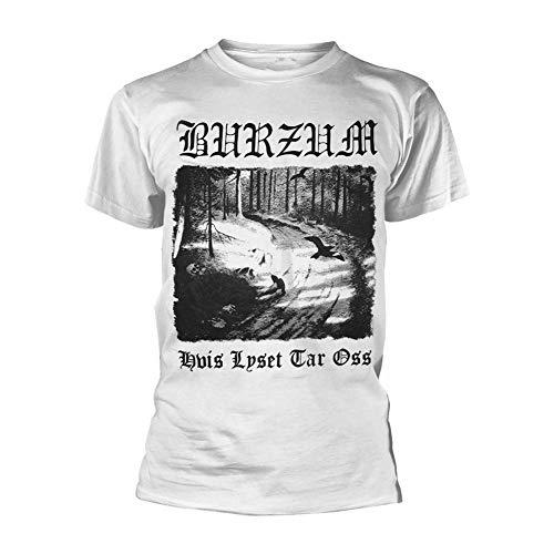 Burzum - Maglietta da uomo Hvis Lyset Tar OSS, colore: Bianco - Bianco - XX-Large