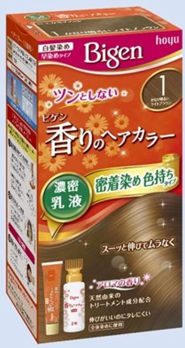 定数ブローわずかにビゲン 香りのヘアカラー 乳液 1 かなり明るいライトブラウン × 10個セット
