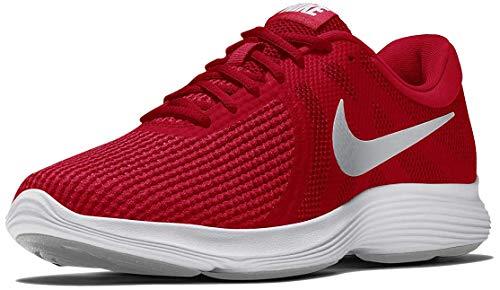 Nike Revolution 4, Zapatillas de Atletismo Hombre, Multicolor (University Red/Wolf Grey/Red Orbit/White 601), 43 EU