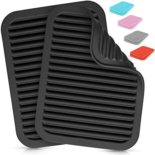 Zulay 2 Pack 9 x12 Silicone Trivets For Hot Pots and Pans Multi Purpose Versatile Trivet Mat product image