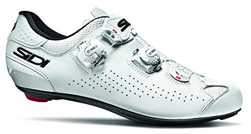 Sidi Genius 10 - Zapatillas de Ciclismo para Hombre, Color Blanco, Talla 43