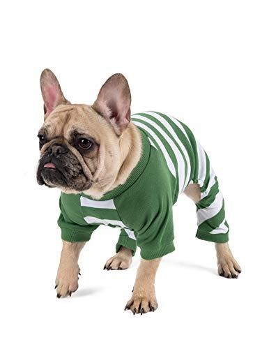 Leveret Matching Dog Pajamas Christmas Pjs 100% Cotton Green/White Stripes Size XX-Large