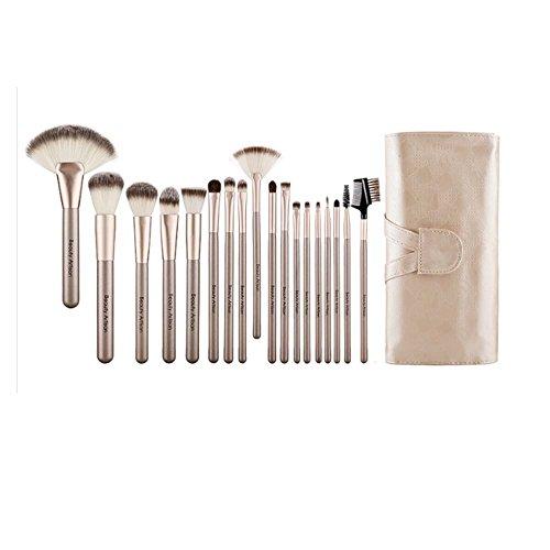 Ensemble de pinceaux de maquillage de pinceaux de maquillage de 18 pièces avec le cas de support