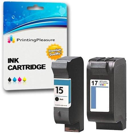 Printing Pleasure 2 Tintenpatronen kompatibel zu HP 15 17 für HP Deskjet 816c 825c 825cvr 825cxi 827 840c 841c 842c 843c 845c 845cse 845cvr 845cxi 848c - Schwarz/Color, hohe Kapazität