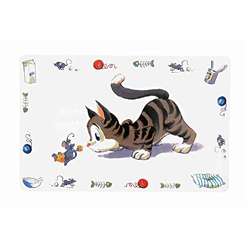 Trixie 24544 Napfunterlage, Comic-Katze, 44 × 28 cm