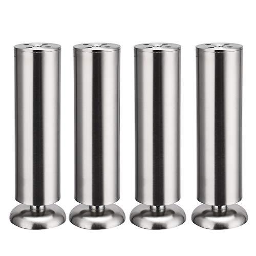 4 x Schrank Beine Küche Füße Arbeitsplatte/Einheit/Frühstück Bar/Schreibtisch Tischbeine Möbel Beine - Gummimatte - Sicher & leise 50 x 200mm
