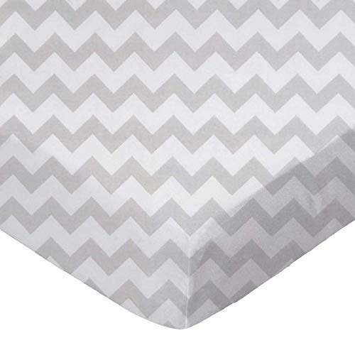 Fantastic Prices! SheetWorld Fitted Pack N Play (Graco Square Playard) Sheet - Grey Chevron Zigzag -...