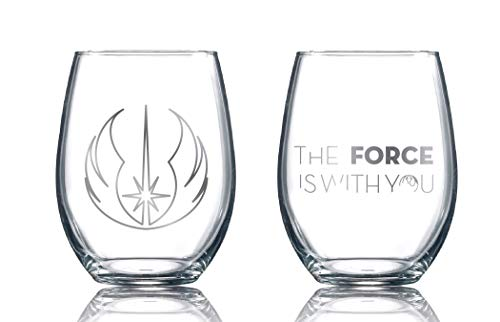 Star Wars Collectible Stemless Glasses (Jedi Master)