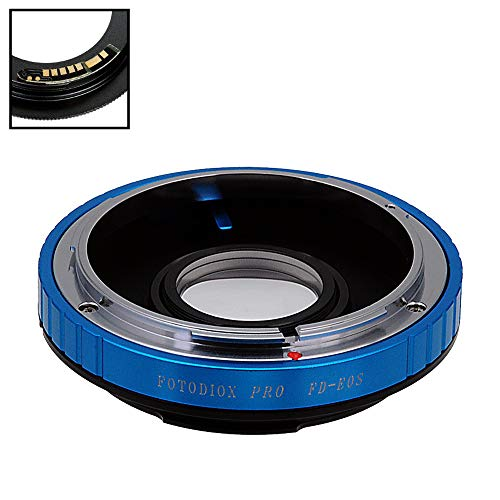 Fotodiox Pro Lens Mount Adapter Compatible with Canon FD & FL 35mm SLR Lens to Canon EOS (EF, EF-S) Mount D/SLR Camera Body - with Gen10 Focus Confirmation Chip and Built-in Aperture Control Dial