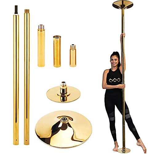 KHXJYC Haushalt Pole Dance Pole, Titan Tragbare Striptease Pole, Rotierende Statische Tanzstange, HöHenverstellbar, Geeignet FüR AnfäNger Fitness
