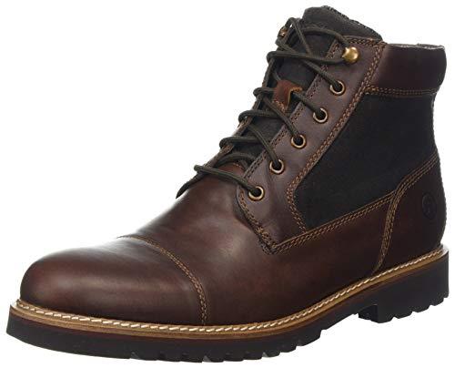 HUWSO|#Rockport Marshall Rugged Cap Toe Boot Klassische Stiefel Herren, Braun (Saddle Brown Saddle Brown), 46 EU