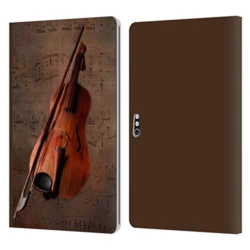 Head Case Designs Offizielle Simone Gatterwe Geige Vintage Und Steampunk Leder Brieftaschen Handyhülle Hülle Huelle kompatibel mit Microsoft Surface Pro 4/5/6