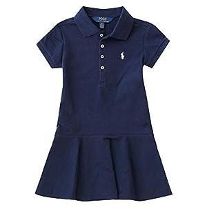 ラルフローレン キッズ 女の子 ワンピース スカート 半袖 上品 おでかけ 服 (サイズ:6X、カラー:Navy) Polo Ralph Lauren [並行輸入品]