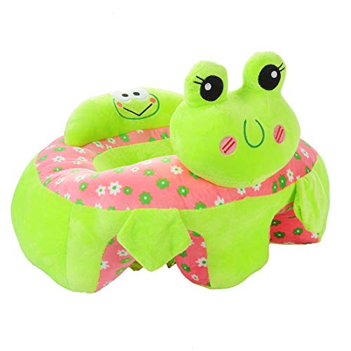 Baby Sofa Infant Support Seat Learning Sitting Chairs for Babies Bouncer Soft Elephant Plush Floor Seats Suitable for Play Infants Tummy Time Pre-Kindergarten Frog