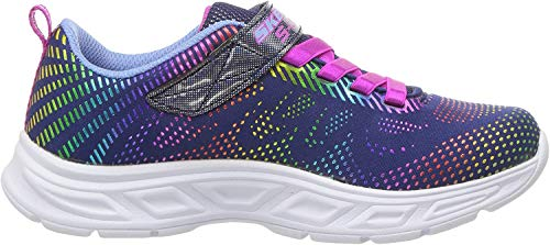 Skechers Girls' Litebeams-Gleam N'DREAM Trainers, Blue (Navy/Multi Nvmt), 12.5 (31 EU)