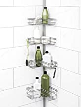 Zenna Home Tension Pole Shower Caddy, Satin Nickel