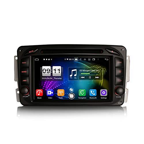 ERISIN Autoradio Android 10.0 da 7 pollici per Mercedes Classe C/CLK/G W203 W209 Viano Vito Supporto GPS Sat Nav Carplay Android Auto DSP Bluetooth Wifi DAB + TPMS 8-Core 4GB RAM + 64GB ROM