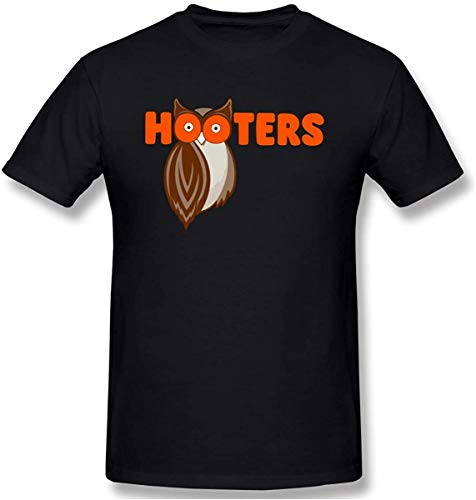 Men Hooters Logo Fashion T-Shirts with Mens Black Short Sleeve,3X-Large