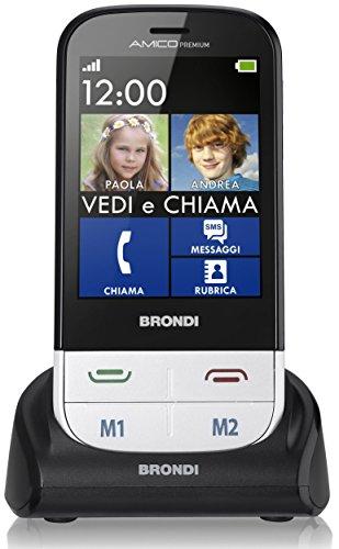 Brondi Amico Premium Telefono Cellulare, Bianco
