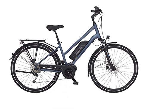 Fischer Damen 1820-RH 44 E-Bike Trekking ETD 1820, saphirblau matt, 28 Zoll, RH 44 cm, Mittelmotor 50 Nm, 48 V Akku, Rahmenhöhe