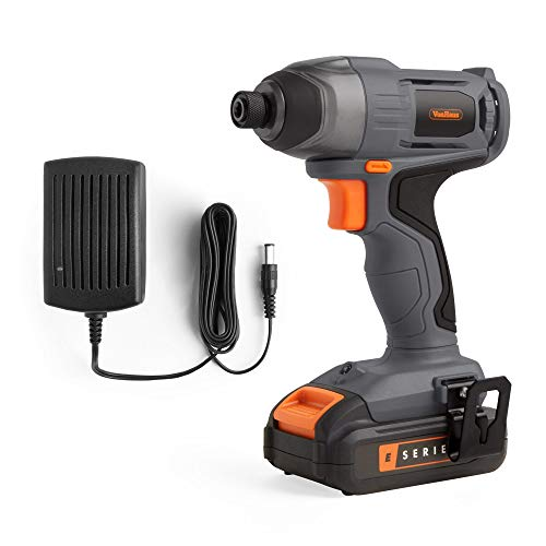 """VonHaus Cordless Impact Driver E-Series 18V – Variable Speed - Strong and Tight Drilling – Compatible with ¼"""" Hex Shank Bits – 1.5 Ah Battery and Charger Included"""