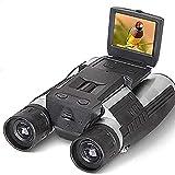 ERZHUI Cámara de Video Digital Disparo de binoculares Portátil 1080p 2.0'LCD 12x32 HD Binoculares Telescopio Plegable con cámara Digital integrada Full HD