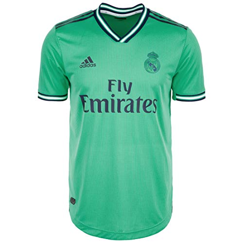 adidas Real Madrid Tercera Equipación Authentic 2019-2020, Camiseta, HI-Re Green-Night Indigo