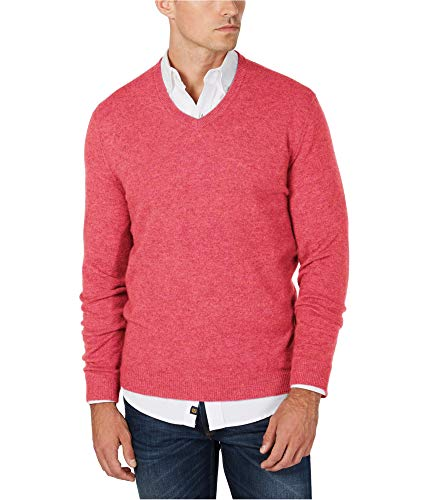 Club Room Mens Cashmere Knit Sweater, Pink, X-Large