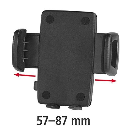 Hama KFZ Handy Smartphone Halterung Universal (für Geräte mit einer Breite von 57 - 87mm, Halterungsschale für alle Halter mit 4-Krallen-Rastersystem, Auto Handyhalterung) schwarz